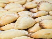 Biscotti a forma di delle coperture Immagini Stock