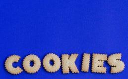 Biscotti a forma di di alfabeto Immagine Stock