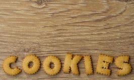 Biscotti a forma di di alfabeto Fotografia Stock Libera da Diritti