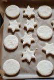 Biscotti a forma di stella Fotografia Stock Libera da Diritti