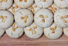 Biscotti freschi casalinghi di tahini Fotografia Stock