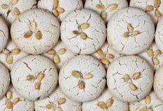 Biscotti freschi casalinghi di tahini Immagini Stock
