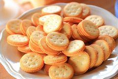 Biscotti freschi Crunchy Fotografie Stock