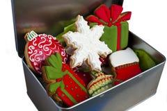 Biscotti ghiacciati di Natale. Immagini Stock Libere da Diritti