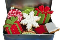 Biscotti ghiacciati di Natale. Fotografia Stock Libera da Diritti