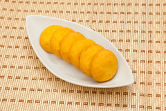 Biscotti gialli Immagine Stock