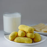 Biscotti gialli Fotografia Stock