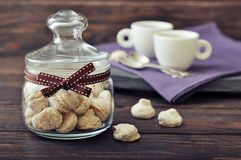 Biscotti in a glass jar Royalty Free Stock Photo