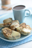 Biscotti and hot chocolate Royalty Free Stock Photography