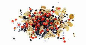 Biscotti infiniti con frutta ed i muesli fotografia stock