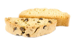 Biscotti Isolated on White Stock Photography
