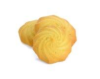 Biscotti isolati sui precedenti bianchi immagine stock