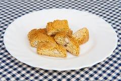 Biscotti italiani di cantuccini Fotografia Stock