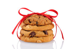 Biscotti legati con un nastro rosso Fotografia Stock