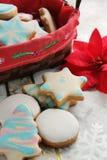 Biscotti lustrati del pan di zenzero Immagini Stock Libere da Diritti