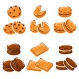 Biscotti messi Vettore royalty illustrazione gratis