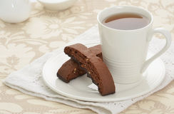 Biscotti met thee Stock Afbeeldingen