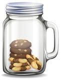 Biscotti nel barattolo di vetro royalty illustrazione gratis