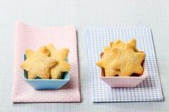 Biscotti nella forma della stella Immagine Stock Libera da Diritti