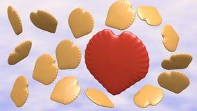Biscotti in nuvole Fotografia Stock