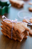 Biscotti o biscotti del pan di zenzero di Natale Immagini Stock