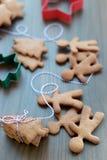 Biscotti o biscotti del pan di zenzero di Natale Immagine Stock Libera da Diritti