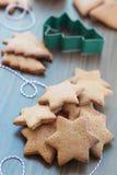 Biscotti o biscotti del pan di zenzero di Natale Fotografia Stock Libera da Diritti