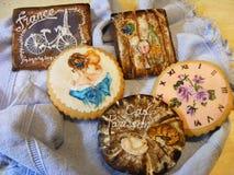 Biscotti Parigi del pan di zenzero fotografia stock