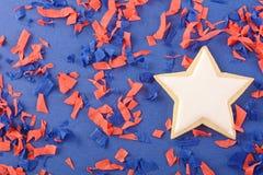Biscotti patriottici per il quarto luglio Immagine Stock