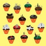 Biscotti per Halloween in testa della zucca Royalty Illustrazione gratis