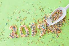 Biscotti per il nuovo anno 2017 Fotografie Stock