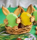 Biscotti per Pasqua Fotografie Stock Libere da Diritti