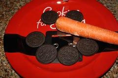 Biscotti per Santa immagine stock