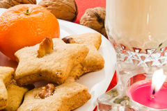 Biscotti per Santa Immagini Stock Libere da Diritti