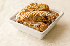Biscotti  with pistachio and cranberry Stock Photography