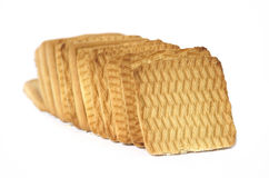 Biscotti quadrati Fotografia Stock Libera da Diritti