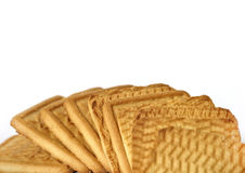 Biscotti quadrati Immagine Stock