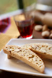 Biscotti an red Wine Stock Photography