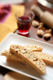 Biscotti an red Wine Royalty Free Stock Photos