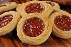 Biscotti riempiti frutta gastronomica Immagini Stock