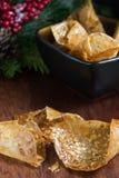 Biscotti rotolati del pizzo Immagine Stock