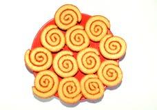 Biscotti rotolati dolci fotografia stock libera da diritti