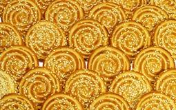 Biscotti rotondi con i semi di sesamo Fotografia Stock Libera da Diritti
