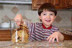 Biscotti rubacchianti Fotografie Stock