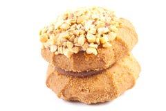 Biscotti saporiti con le noci Immagini Stock