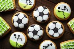 Biscotti saporiti di calcio Fotografia Stock Libera da Diritti