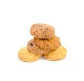 Biscotti saporiti su un fondo bianco Fotografia Stock Libera da Diritti
