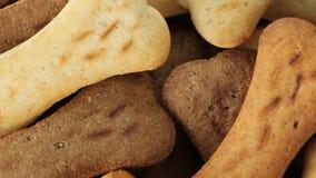Biscotti sotto forma dell'osso stock footage