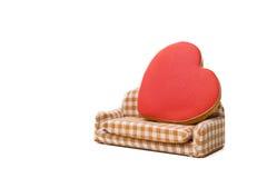 Biscotti sotto forma di un cuore Fotografie Stock Libere da Diritti