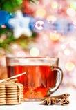 Biscotti, spezie e te di Natale Fotografie Stock
